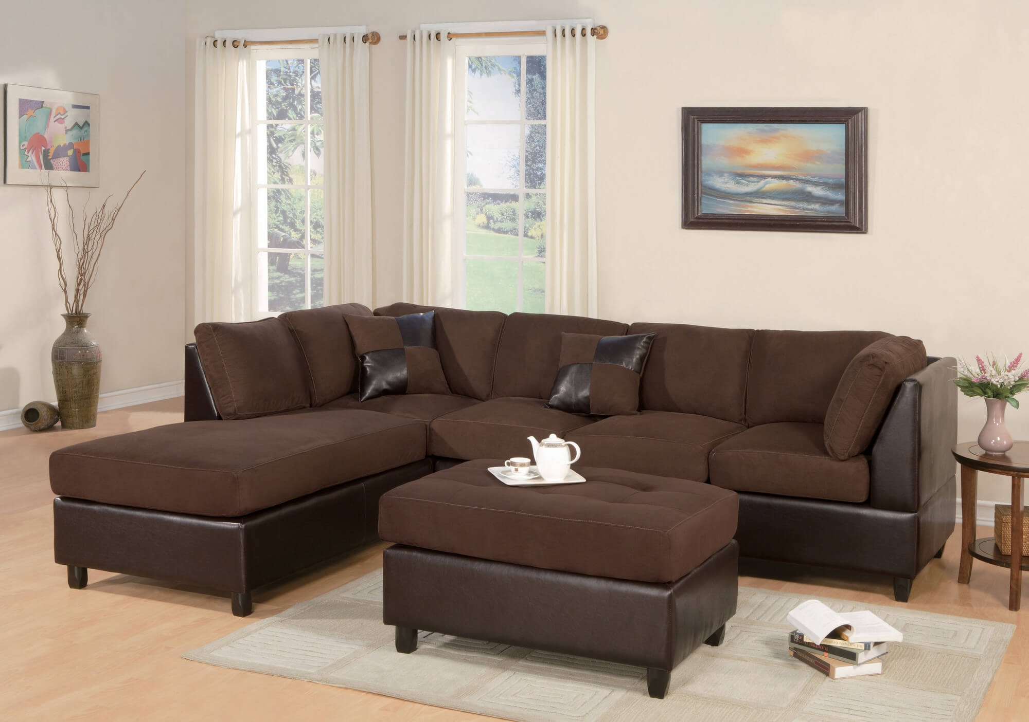 100 Beautiful Sectional Sofas Under 1000 Pertaining To Chocolate Brown Sectional Sofa (#1 of : beautiful sectional sofas - Sectionals, Sofas & Couches