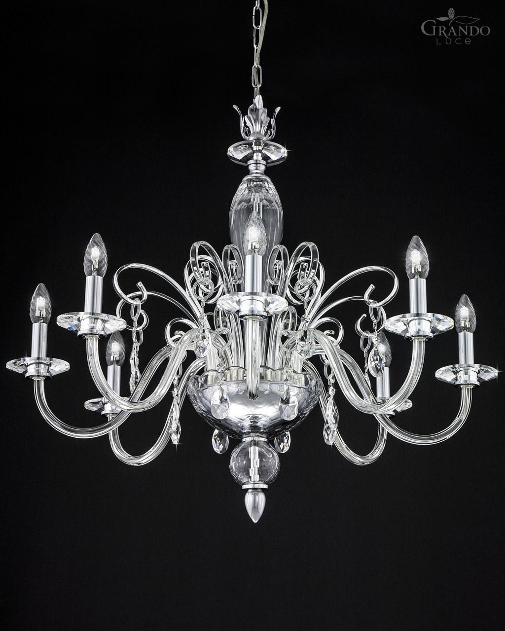 1208 Ch Chrome Crystal Chandelier With Swarovski Elements Throughout Chrome Chandeliers (#2 of 12)