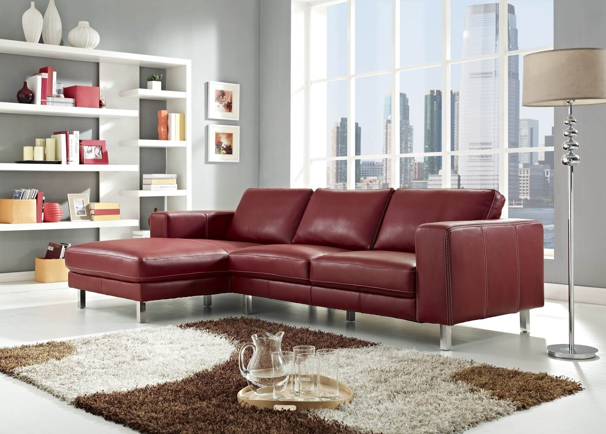 18 Stylish Modern Red Sectional Sofas Within Elegant Sectional Sofas (#1 of 12)