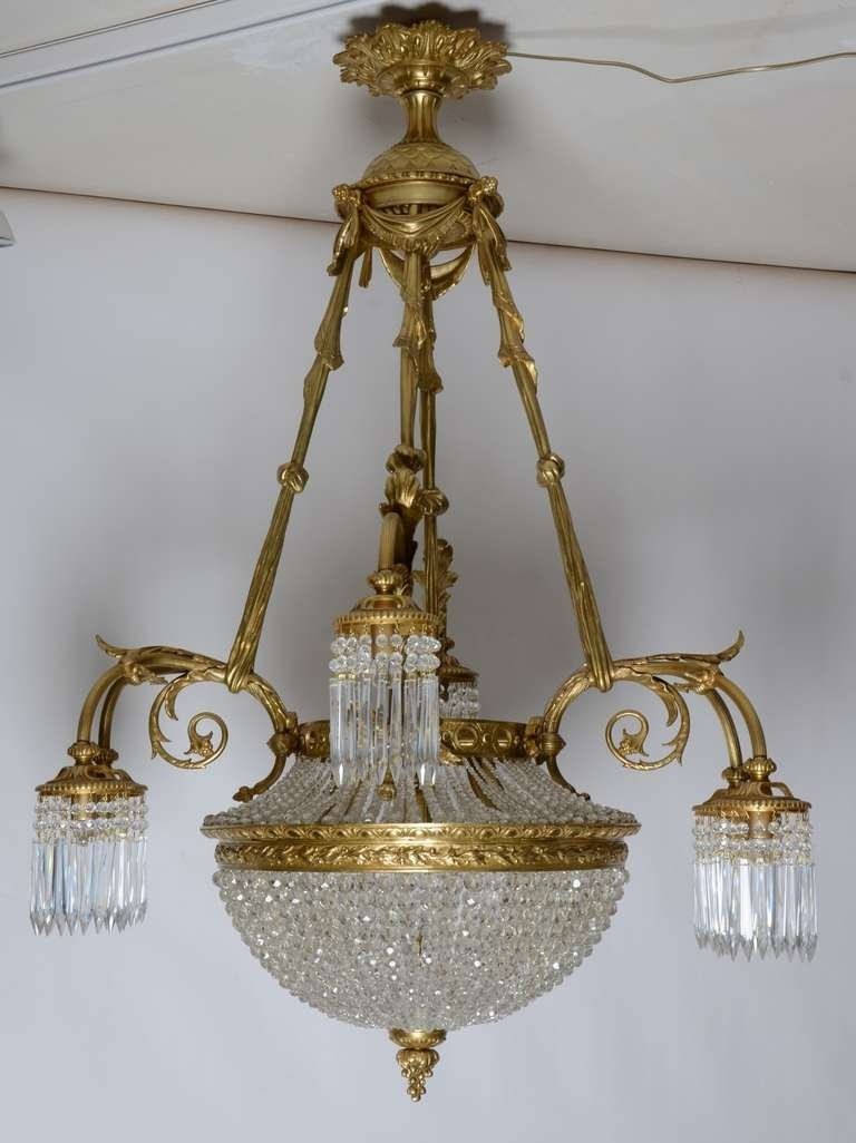 19th Century French Louis Xvi Antique Chandelier For Sale At 1stdibs With French Antique Chandeliers (#1 of 12)