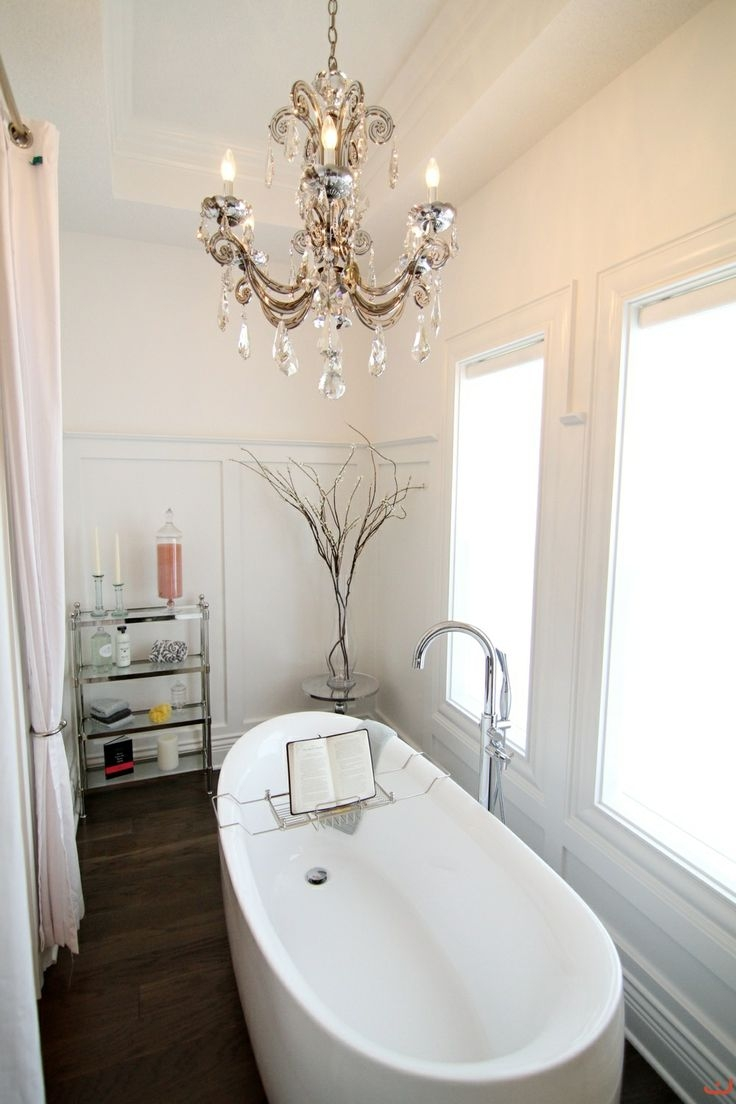 Inspiration about 21 Ideas To Decorate Lamps Chandelier In Bathroom With Chandelier In The Bathroom (#2 of 12)
