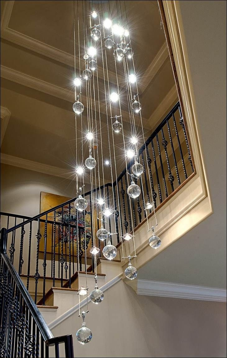 Popular Photo of Staircase Chandeliers