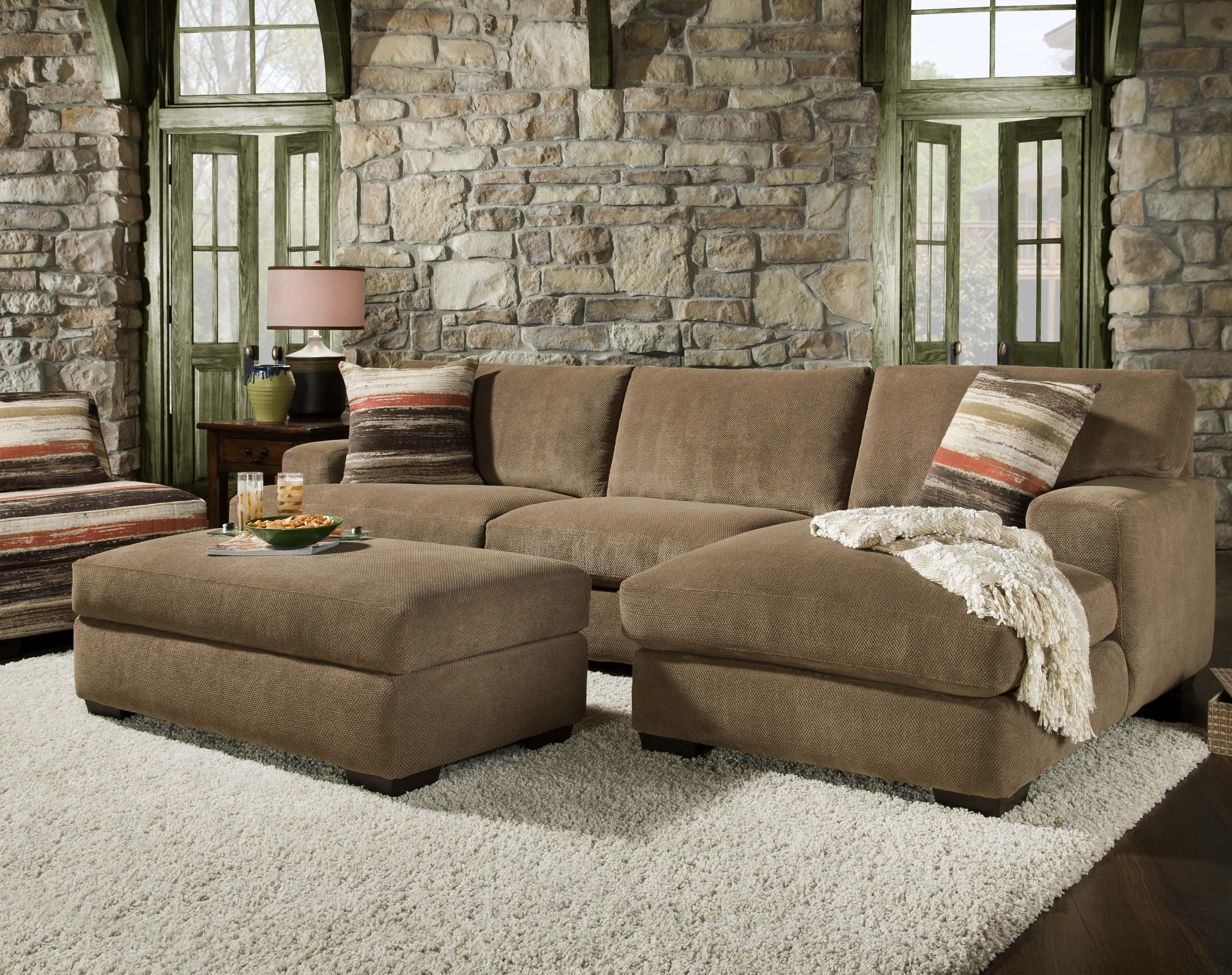 48b0 Meade Mocha 2 Piece Sectional Corinthian 1100 Living Inside Corinthian Sectional Sofas (#1 of 12)