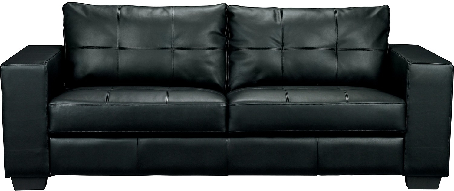 550 Costa Black Bonded Leather Sofa The Brick Design Throughout Brick Sofas (#1 of 12)