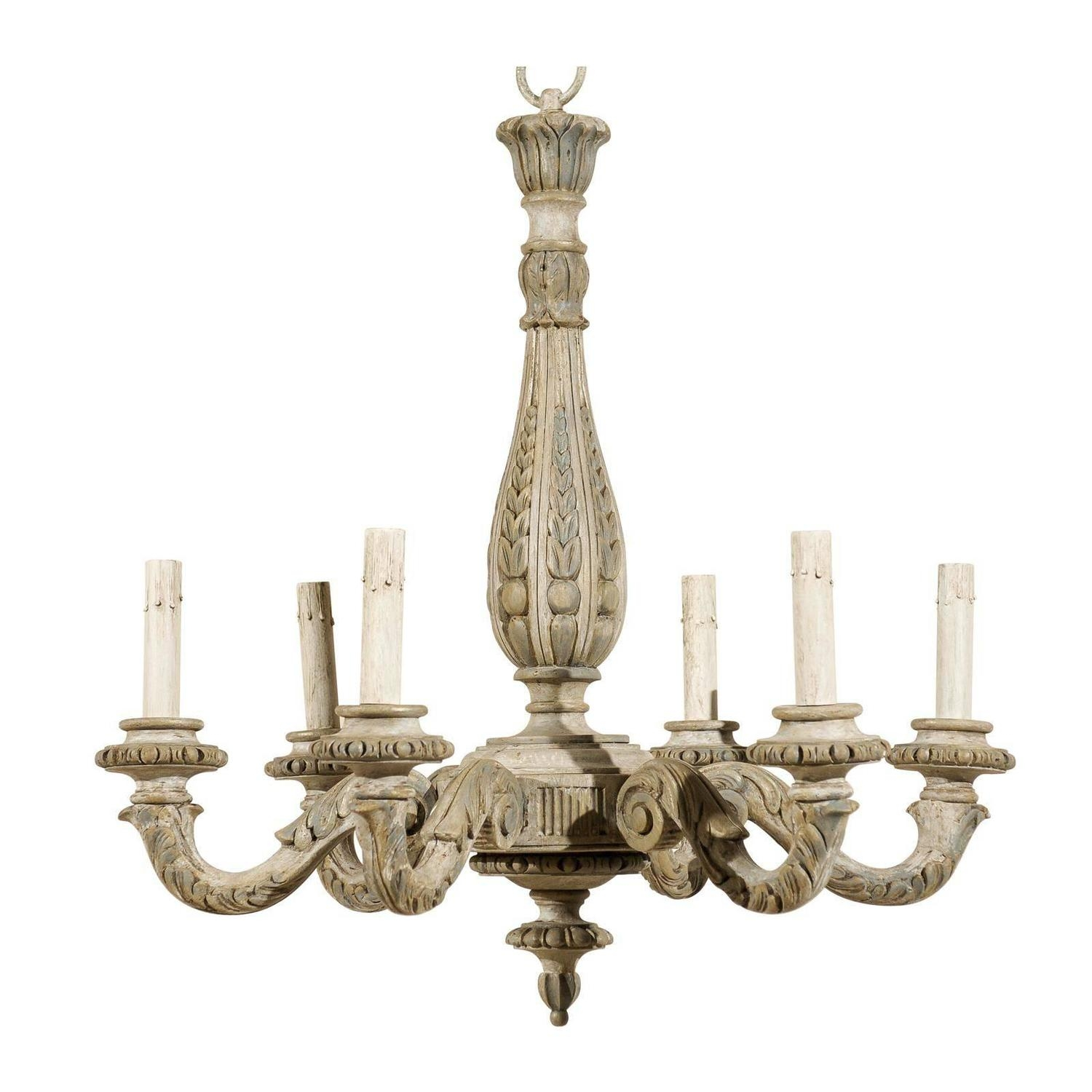 Popular Photo of French Wooden Chandelier