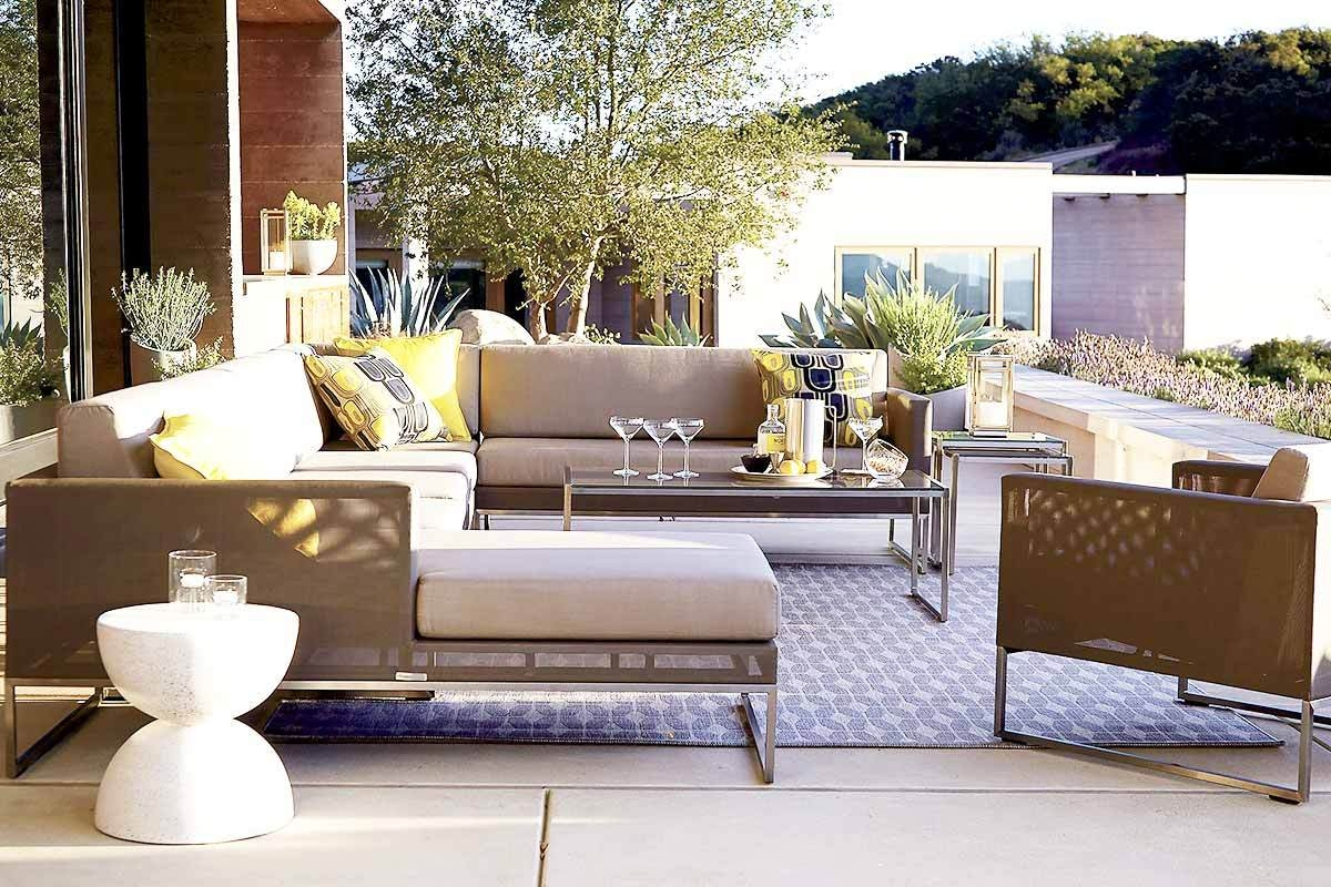 6 Outdoor Sectional Sofas For A Contemporary Patio Within Crate And Barrel Sectional Sofas (#1 of 12)