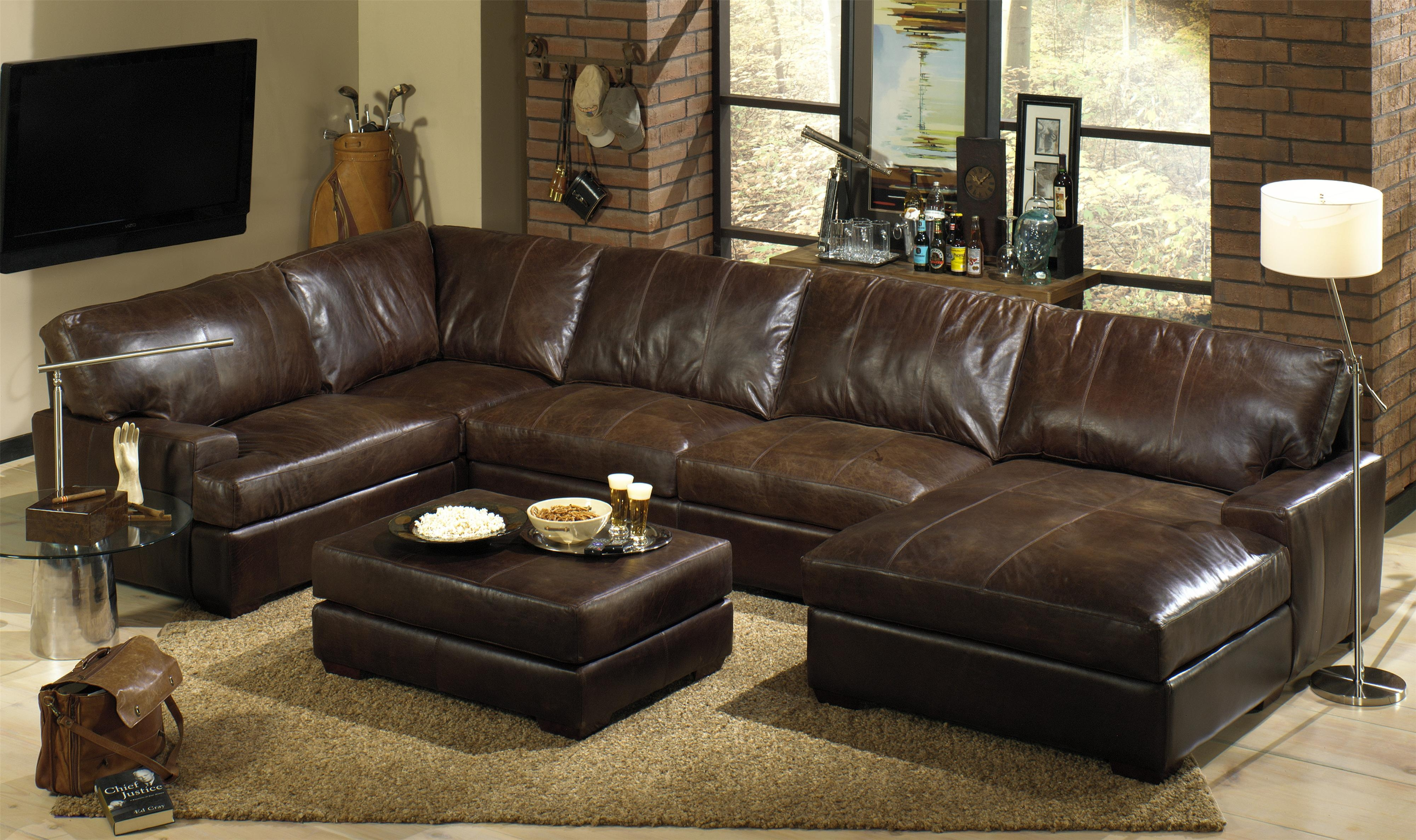 6 Piece Leather Sectional Sofa Cleanupflorida Intended For 6 Piece Leather Sectional Sofa (#1 of 12)
