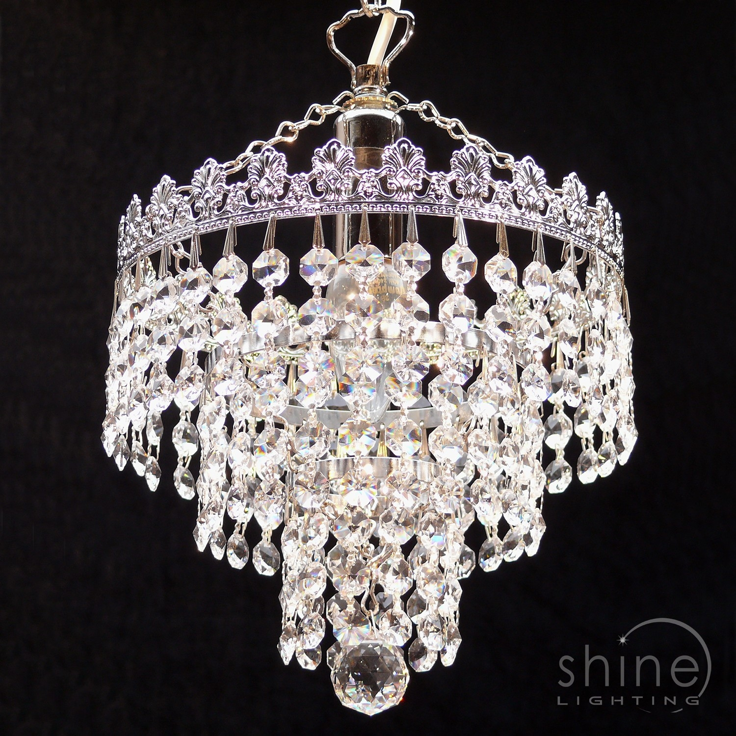 8 3 Tier Crystal Chandelier Within 3 Tier Crystal Chandelier (#2 of 12)