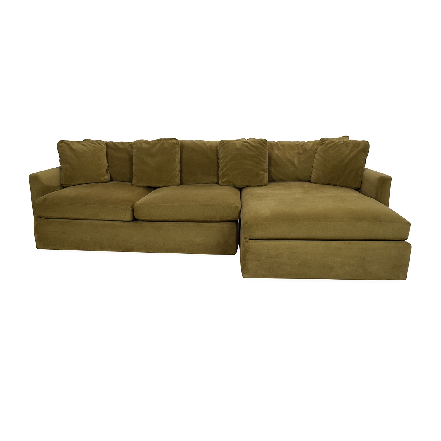 88 Off Hickory Chair Hickory Chair Foster L Shaped Beige With Crate And Barrel Sectional Sofas (View 12 of 12)