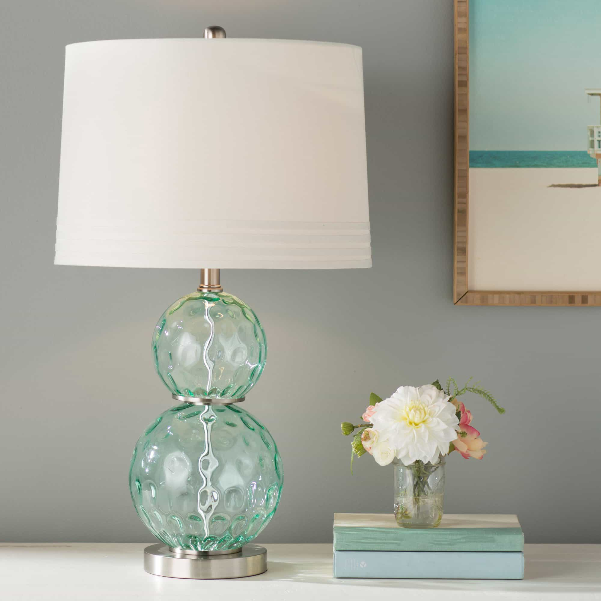 Glass Crystal Country Ceramic Table Lamps (#4 of 5)