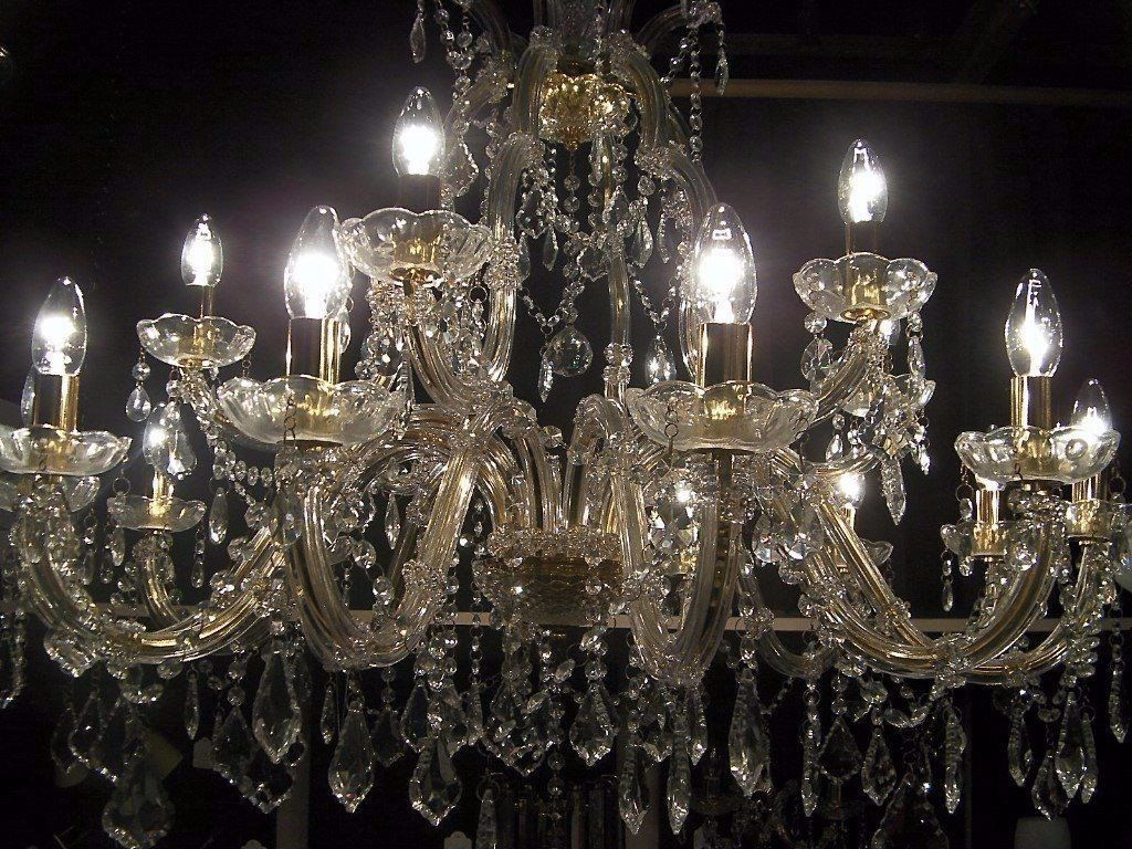 Absolutely Massive Chandelier Smothered In Crystal In Hove For Massive Chandelier (#2 of 12)