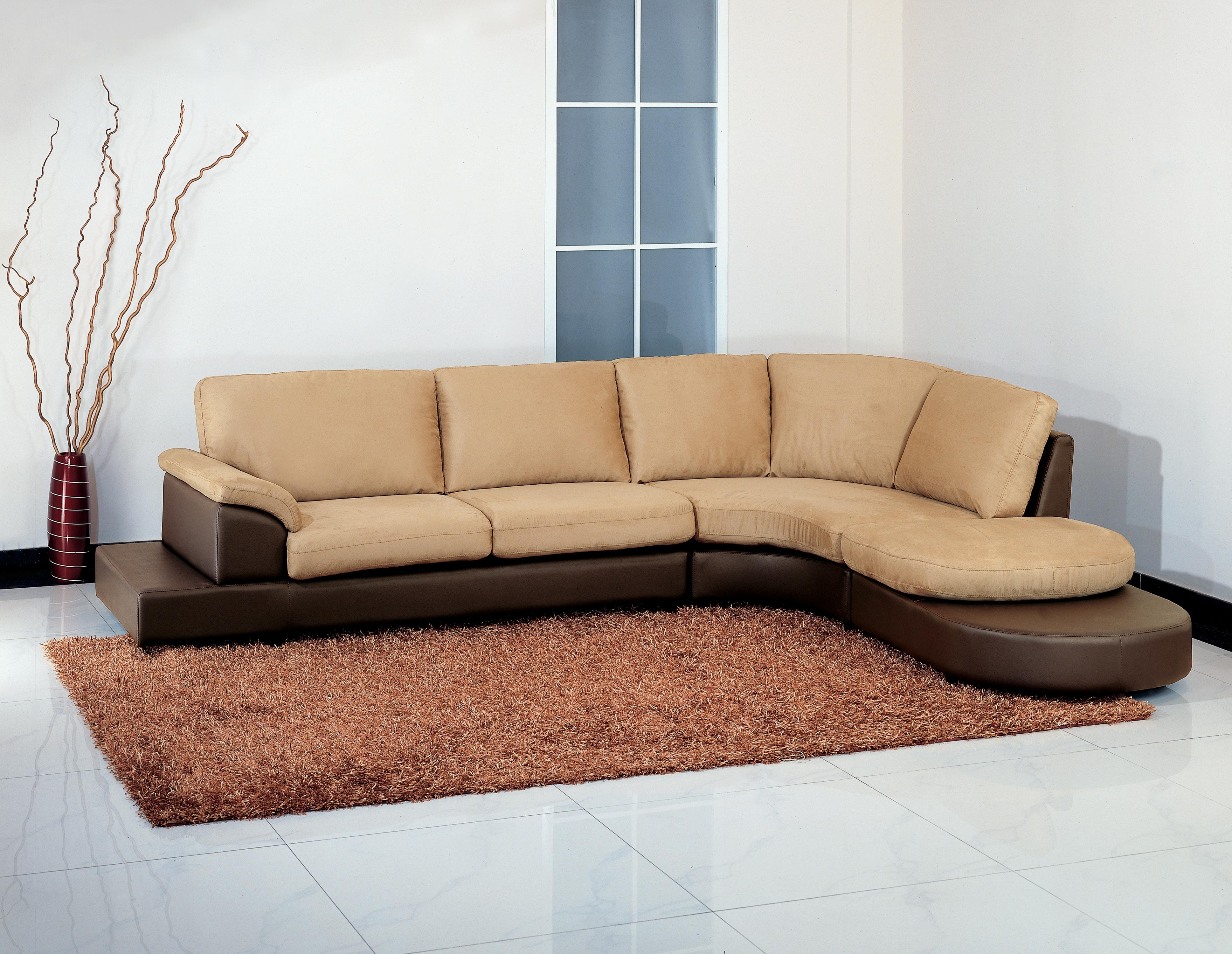 12 Collection of Abbyson Living Charlotte Beige Sectional Sofa and