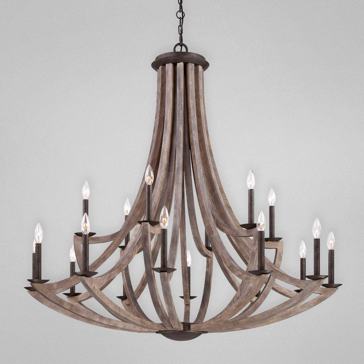 Aden Star Ltd Llc Dba 1020 Decor Arcata Bronze Iron And Wood 18 Pertaining To Wooden Chandeliers (#5 of 12)