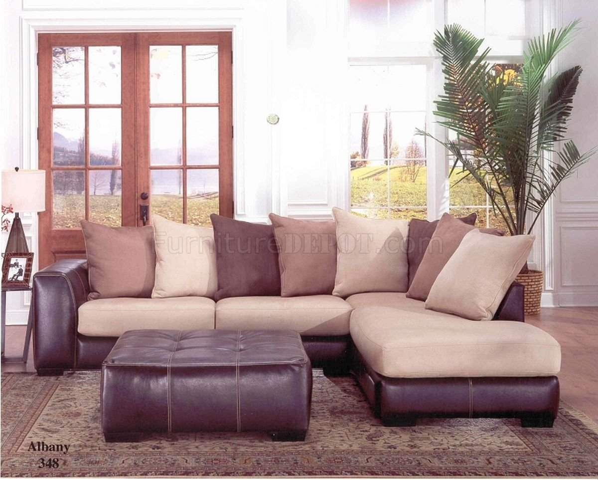 Albany Industries Leather Sofa In Albany Industries Sectional Sofa (#1 of 12)