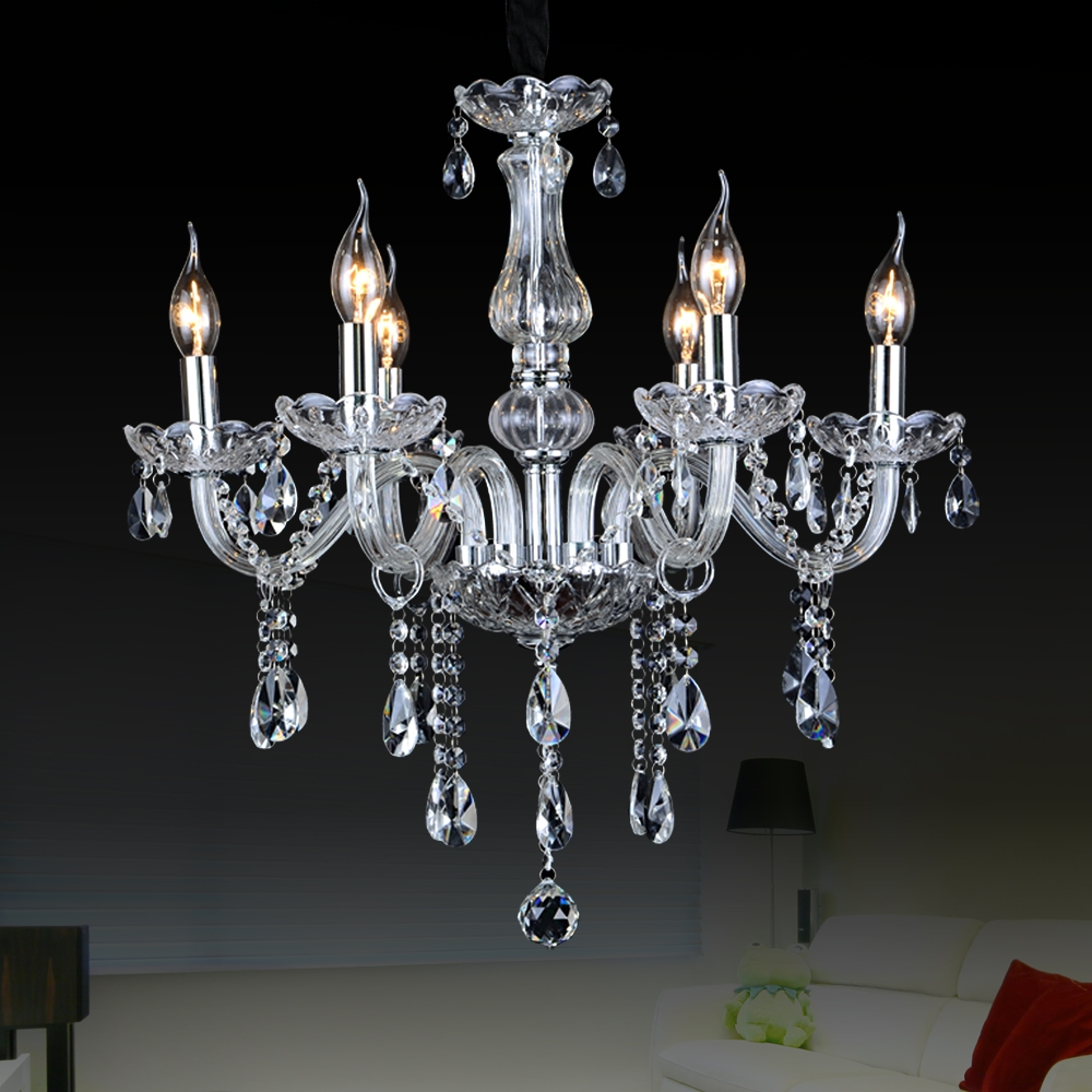 Aliexpress Buy Crystal Large Chandeliers Contemporary Intended For Glass Chandelier (#3 of 12)
