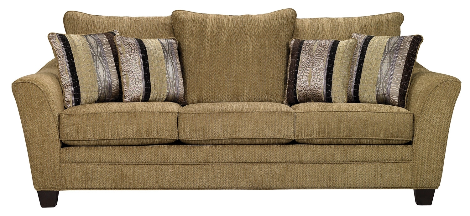 Allen Chenille Sofa Taupe The Brick Throughout Brick Sofas (#3 of 12)