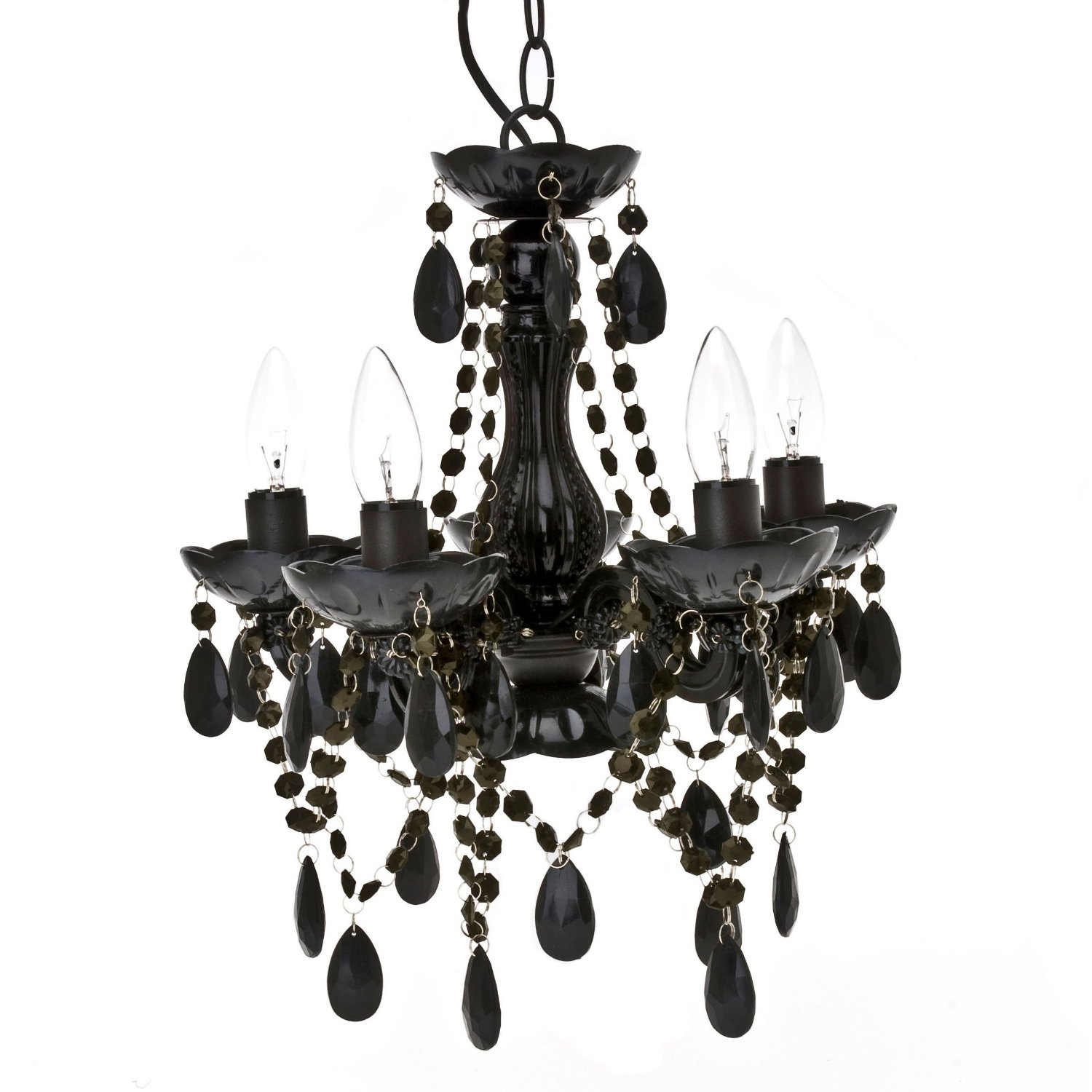 Amazing Of Black Chandelier Lamp Black Chandelier Crystals Paris With Regard To Contemporary Black Chandelier (#2 of 12)