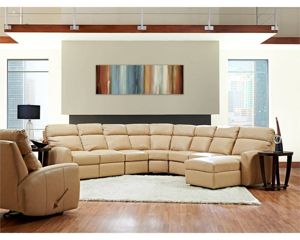 American Made Best Reclining Leather Sectional Ventana Clp114 Regarding American Made Sectional Sofas (#1 of 12)