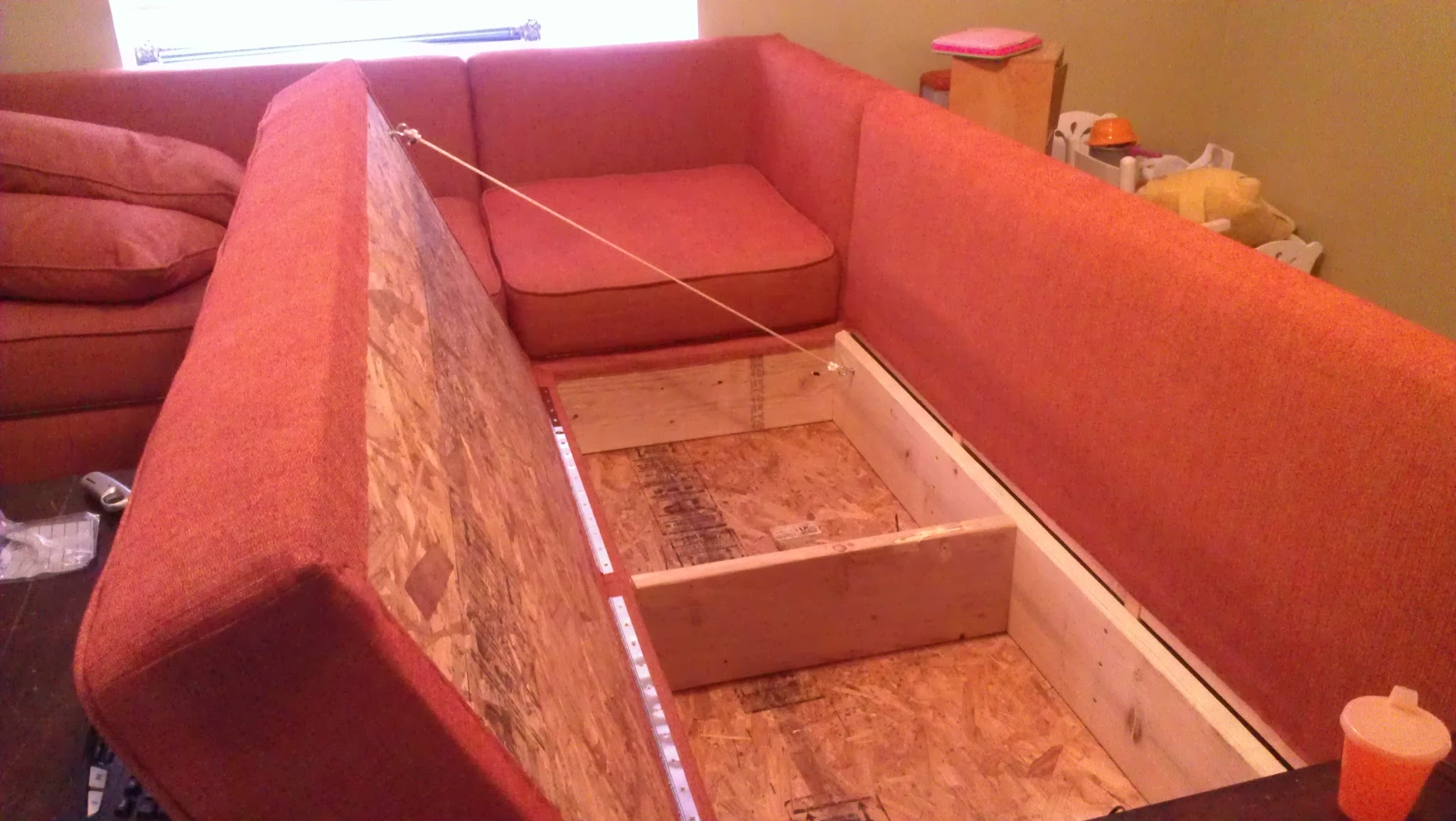 Ana White Diy Sofa Storage Sectional Diy Projects Pertaining To Diy Sectional Sofa (#2 of 12)