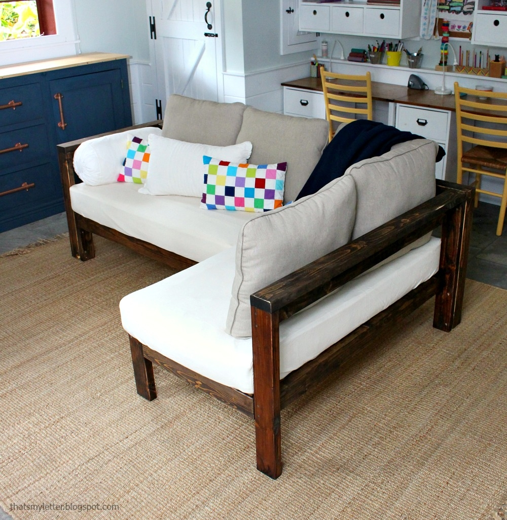 Ana White Kids Couch 2×4 Diy Sectional With Crib Mattress Intended For Diy Sectional Sofa Plans (#3 of 12)