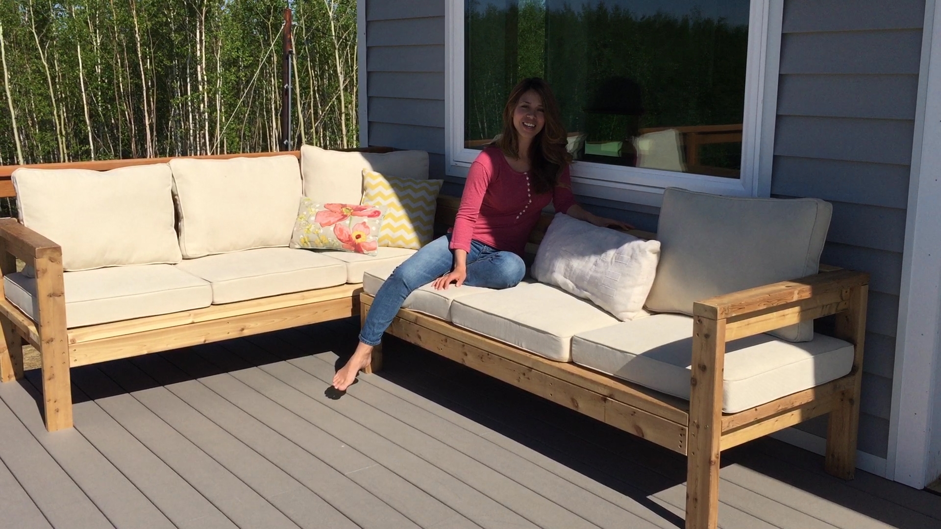 Ana White One Arm Outdoor Sectional Piece Diy Projects Regarding Diy Sectional Sofa Plans (#4 of 12)