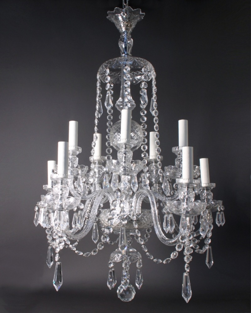 Antique Crystal Chandeliers In Interior Decor Home With Antique Within Crystal Chandeliers (#2 of 12)