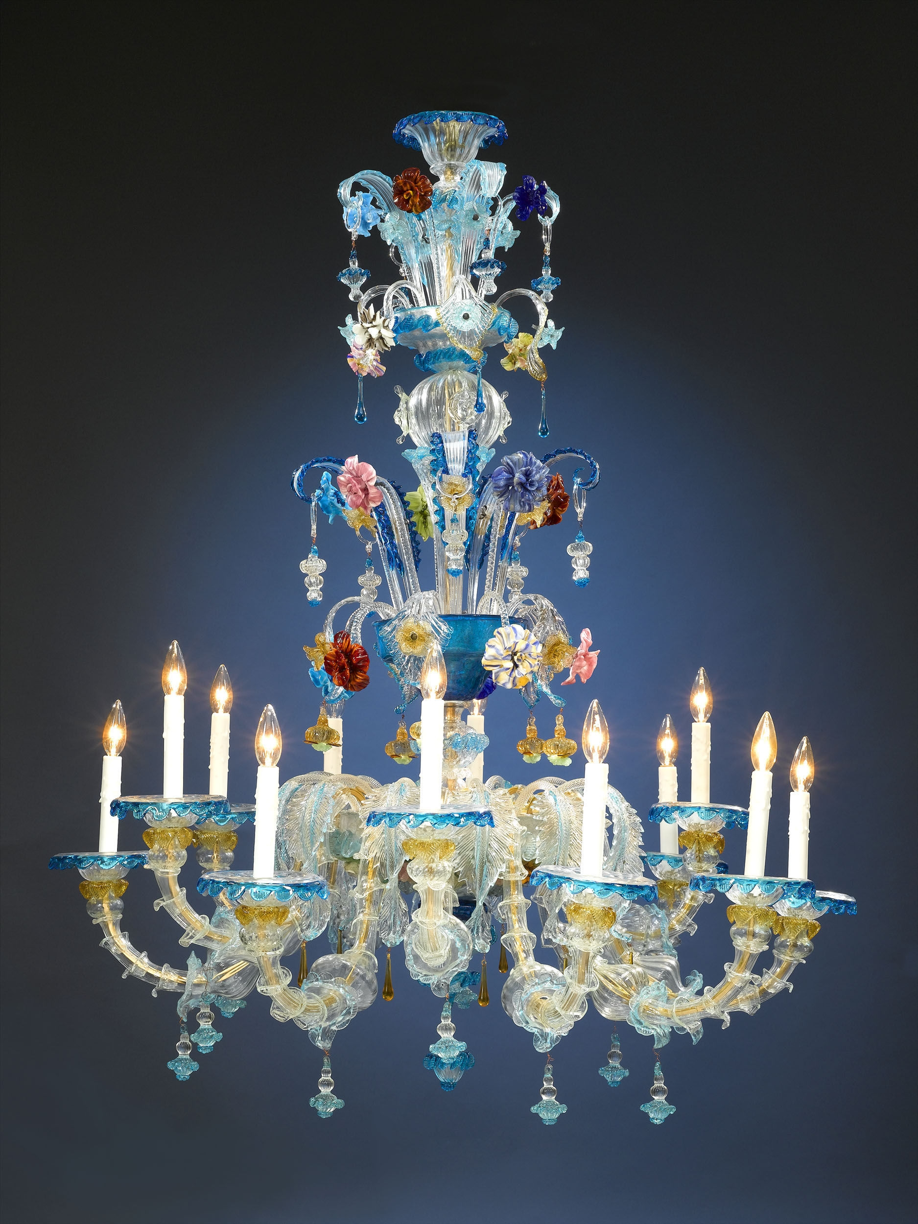 Inspiration About Antique Glass Venetian Murano Chandelier Ms Rau In Coloured