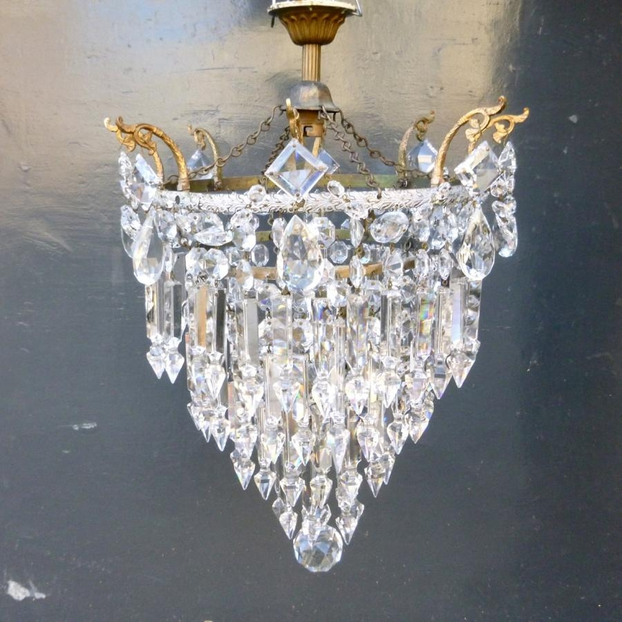 Antique Lead Crystal Chandelier Antique Salvaged Lighting Intended For Lead Crystal Chandeliers (#2 of 12)