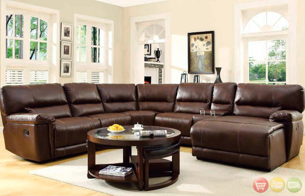 Appealing Sectional Sofa With Recliner And Chaise Lounge 84 On 6 For 6 Piece Leather Sectional Sofa (#4 of 12)