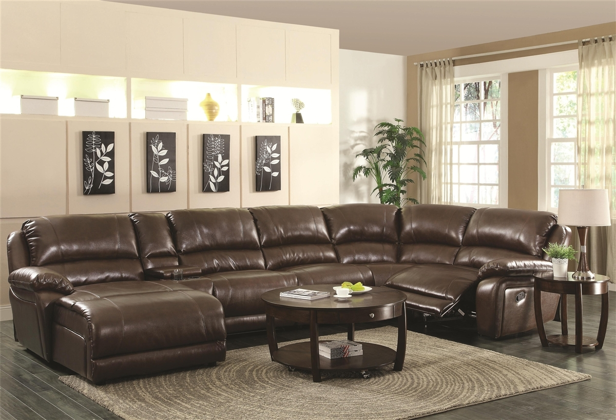 Appealing Sectional Sofa With Recliner And Chaise Lounge 84 On 6 For 6 Piece Leather Sectional Sofa (#3 of 12)