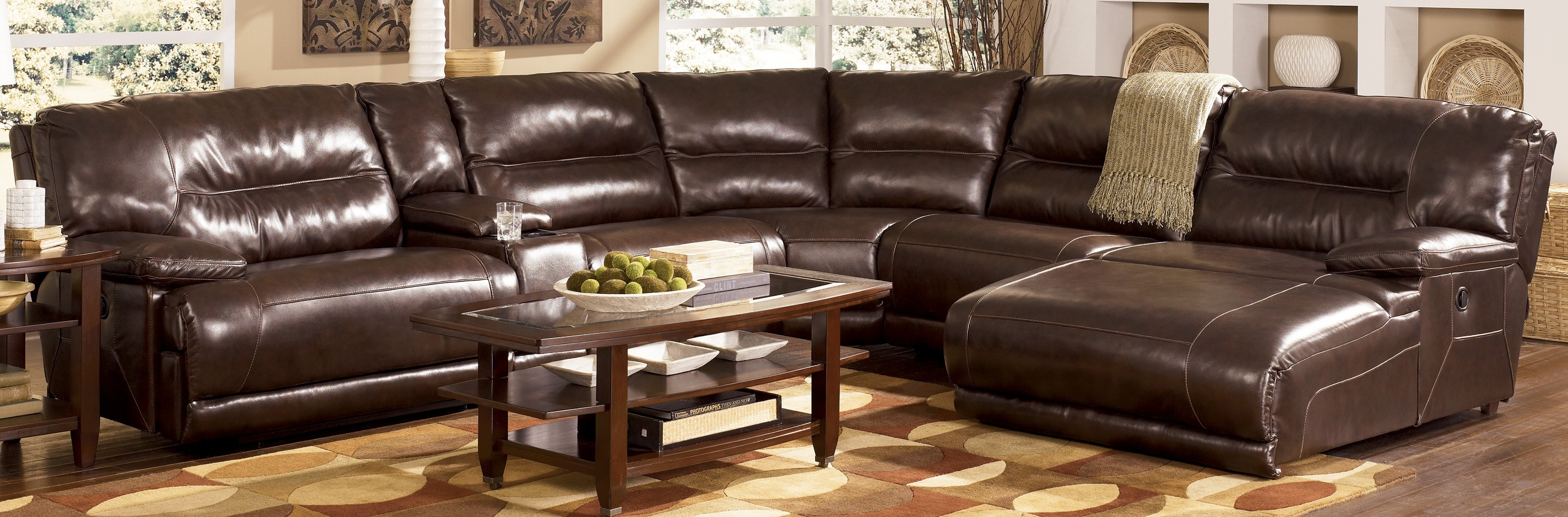 12 best collection of 6 piece leather sectional sofa for Chaise and recliner