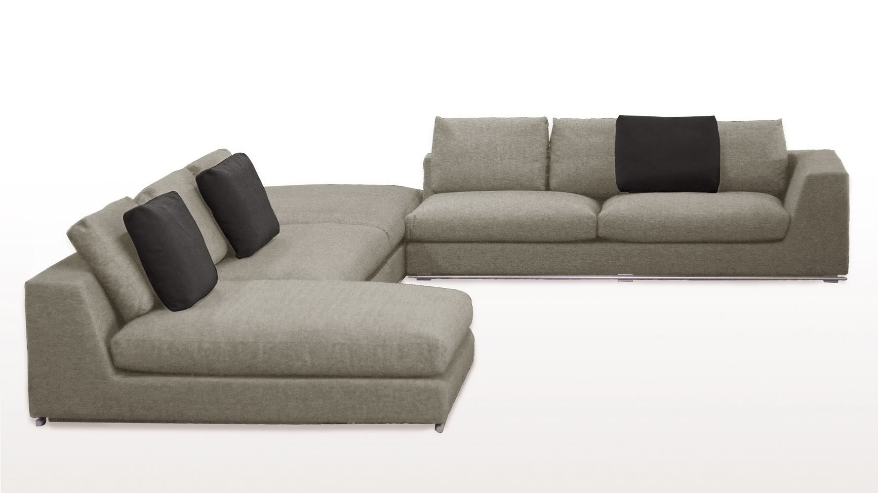 Armless Sectional Sofas Hereo Sofa Pertaining To Armless Sectional Sofas (#6 of 12)