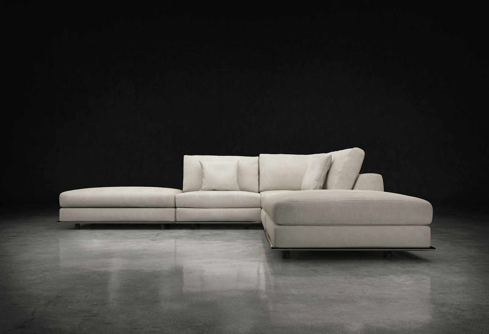 Armless Sectional Sofas Inside Armless Sectional Sofas (#7 of 12)