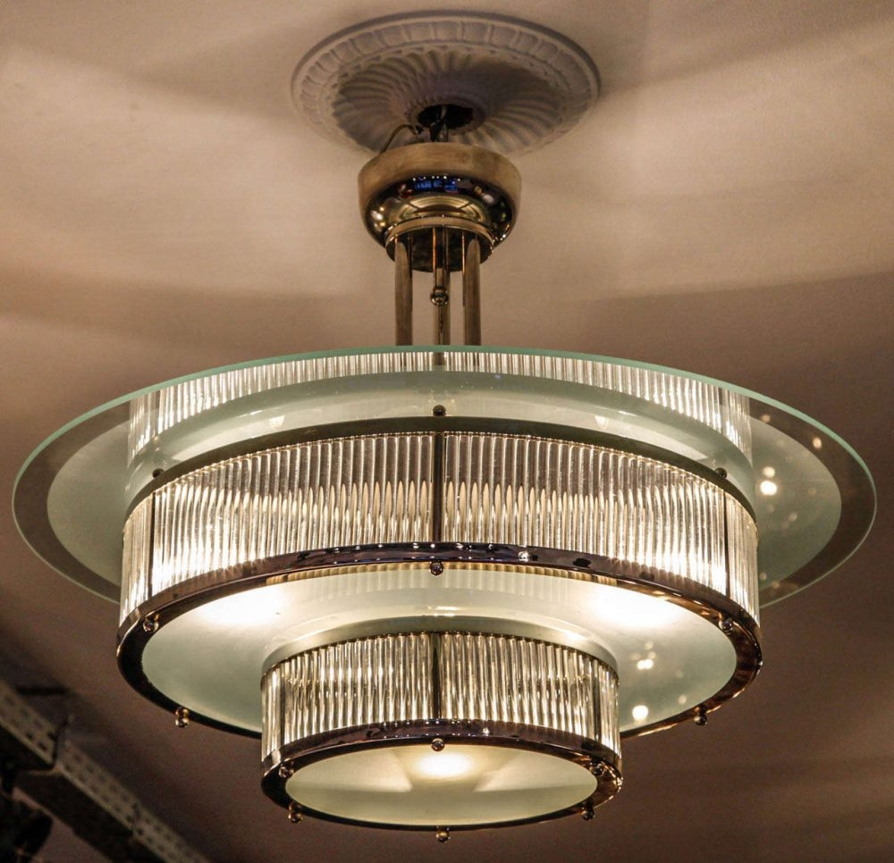 Art Deco Chandelier Look Elegant For Interior Home Inspiration Pertaining To Art Deco Chandeliers (#3 of 12)