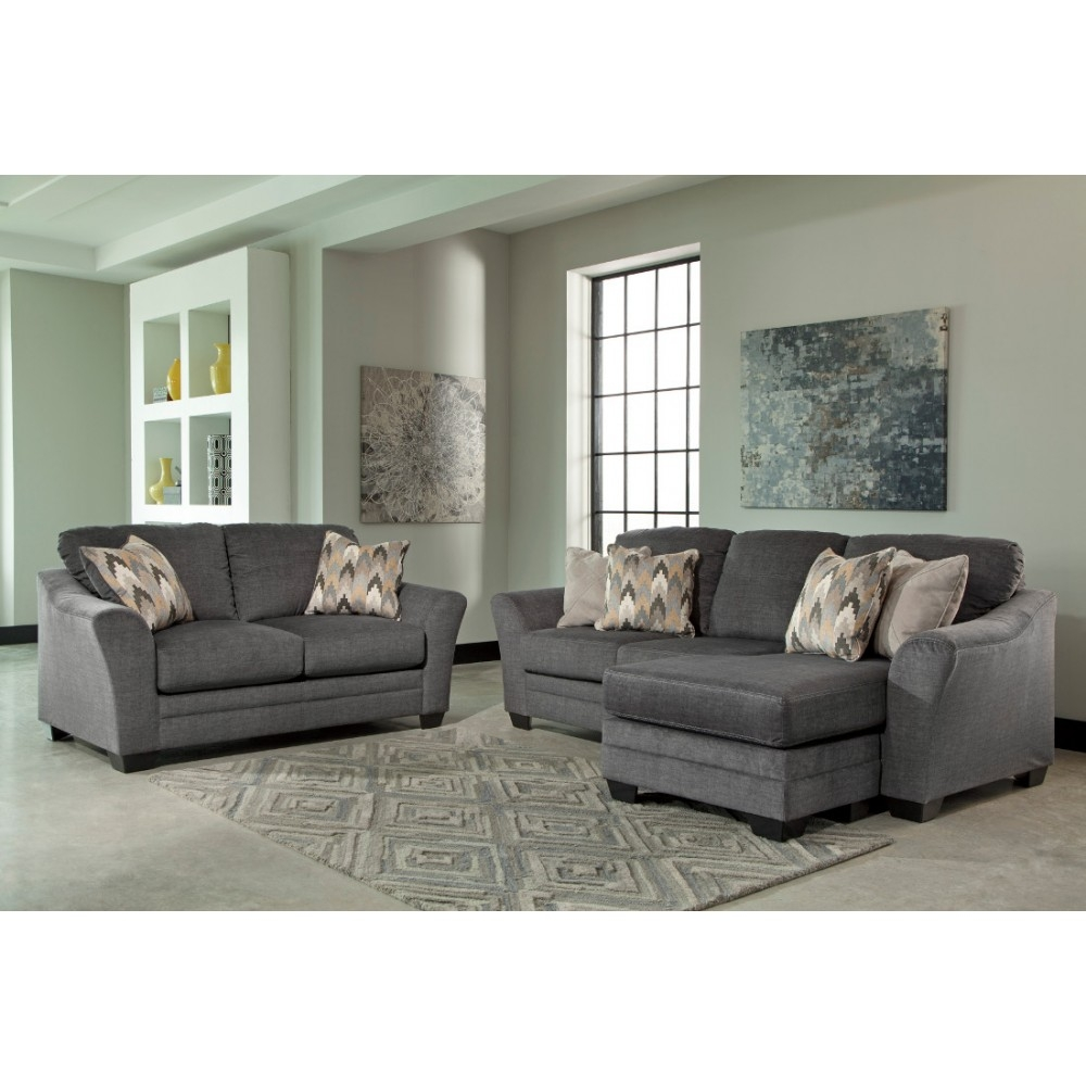 Ashley Furniture Braxlin Livingroom Set In Charcoal Local In Ashley Furniture Gray Sofa (View 4 of 12)