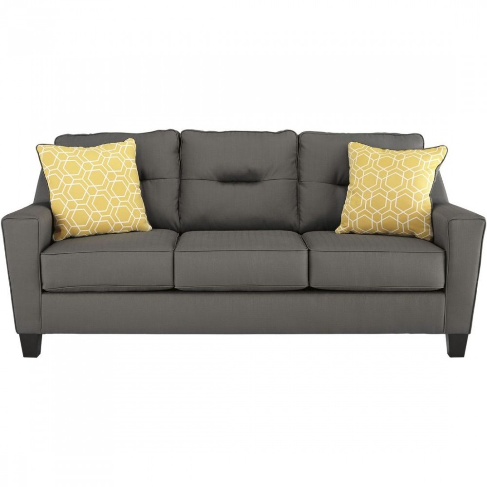 Ashley Furniture Forsan Nuvella Sofa In Gray Intended For Ashley Furniture Gray Sofa (View 9 of 12)