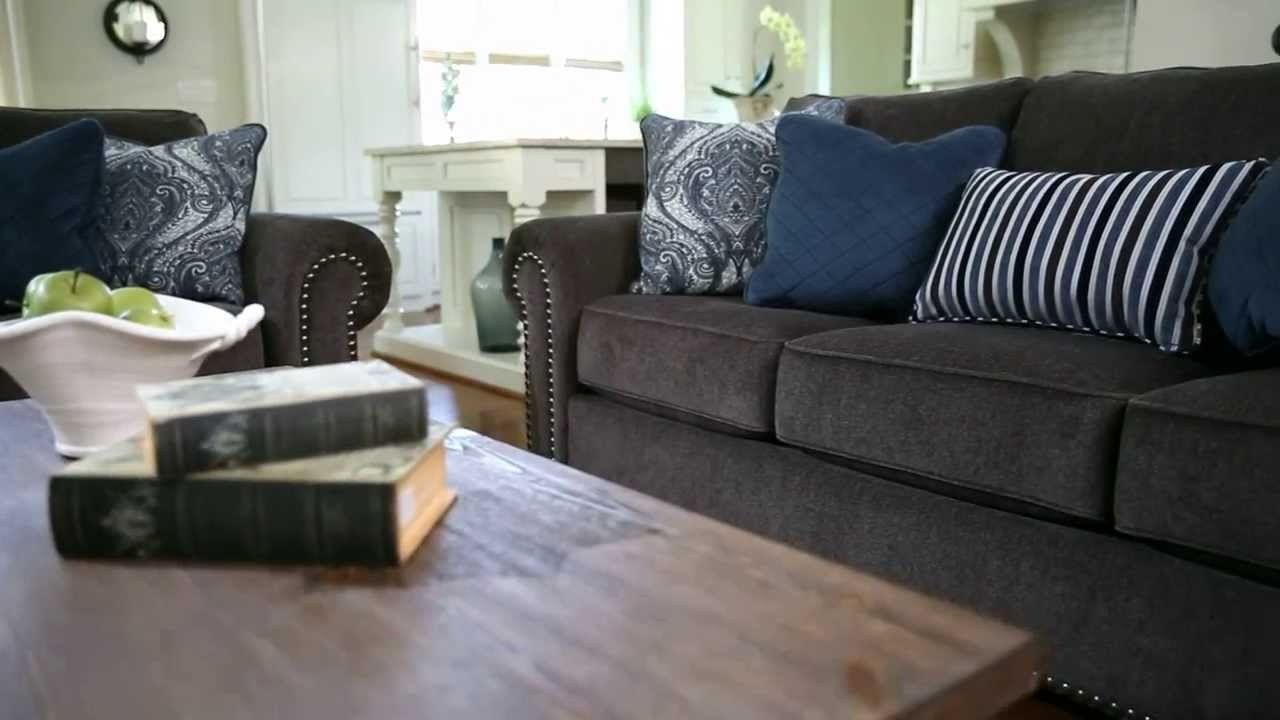 Ashley Furniture Homestore Navasota Sofa Youtube Pertaining To Ashley Furniture Gray Sofa (View 8 of 12)