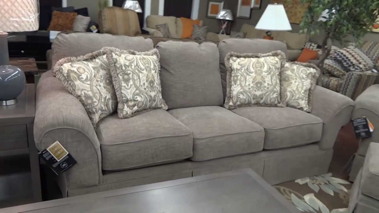 Ashley Furniture Sonnenora Sofa Chair Ottoman 388 Review Youtube For Ashley Furniture Gray Sofa (View 11 of 12)