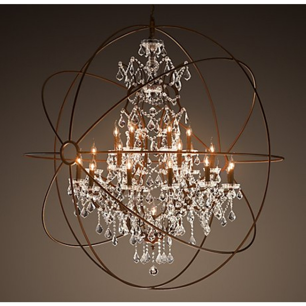 Aspasia Of Athens Ii 25 Lights Solaris Crystals Oversized Inside Oversized Chandeliers (#2 of 12)