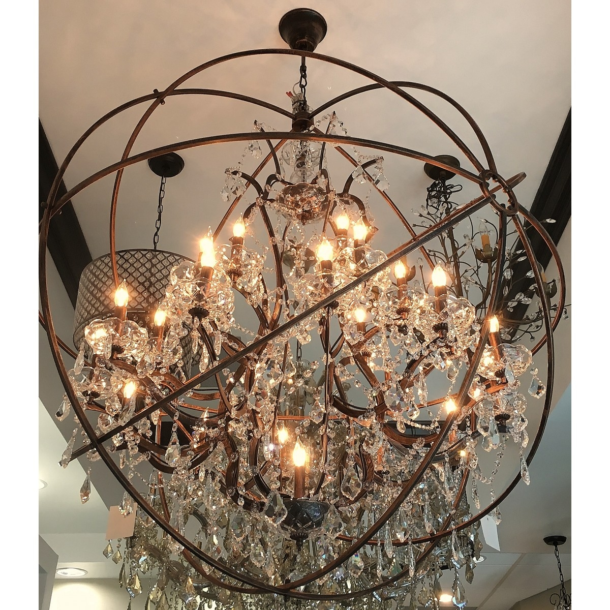 Aspasia Of Athens Ii 25 Lights Solaris Crystals Oversized Inside Oversized Chandeliers (#1 of 12)