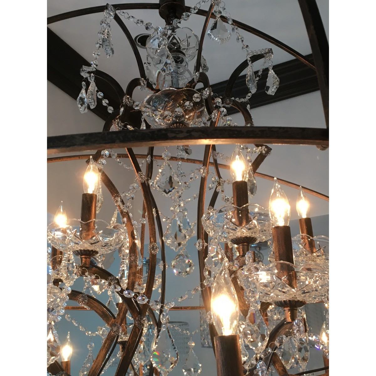 Aspasia Of Athens Ii 25 Lights Solaris Crystals Oversized Pertaining To Oversized Chandeliers (#3 of 12)