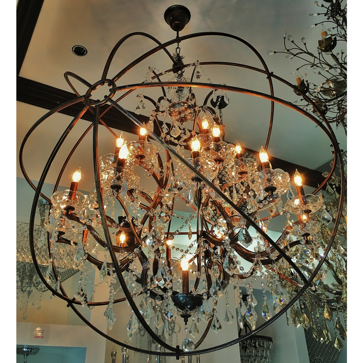 Aspasia Of Athens Ii 25 Lights Solaris Crystals Oversized Within Oversized Chandeliers (#4 of 12)