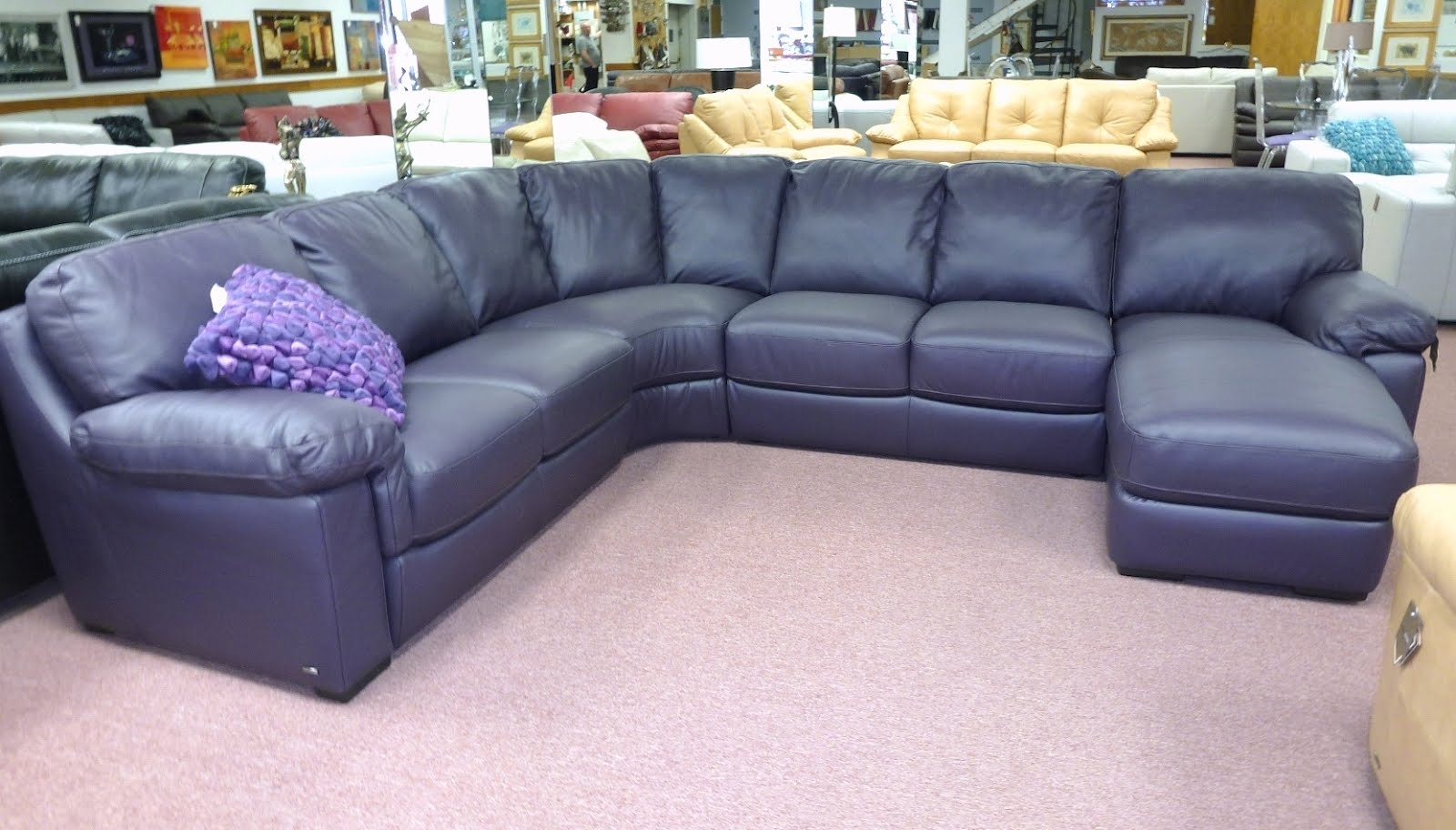 Inspiration About Astounding Eggplant Sectional Sofa 62 For Convertible  Sectional Regarding Eggplant Sectional Sofa (#