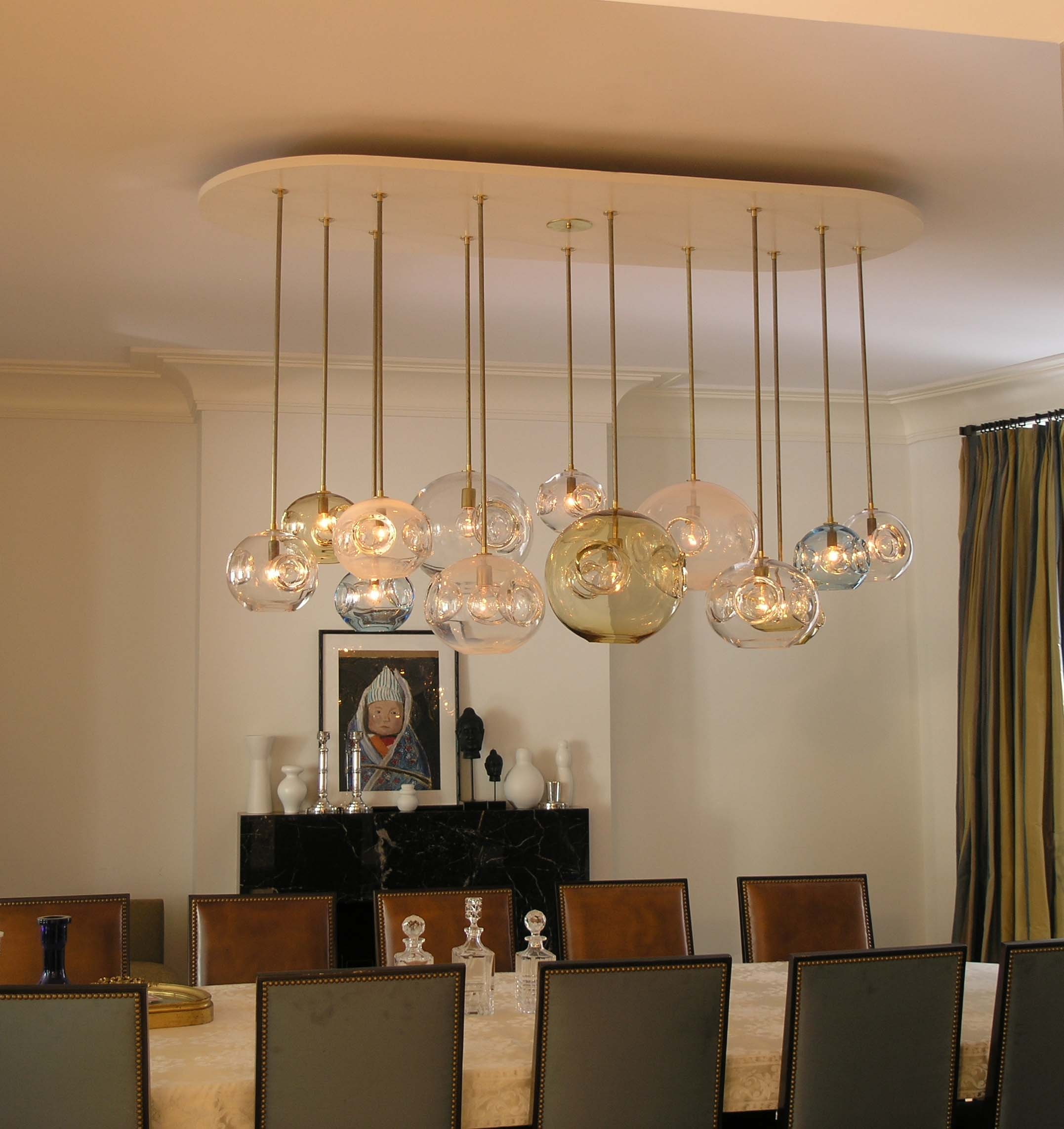 Glass Chandeliers For Dining Room: 12 Best Ideas Of Long Modern Chandelier
