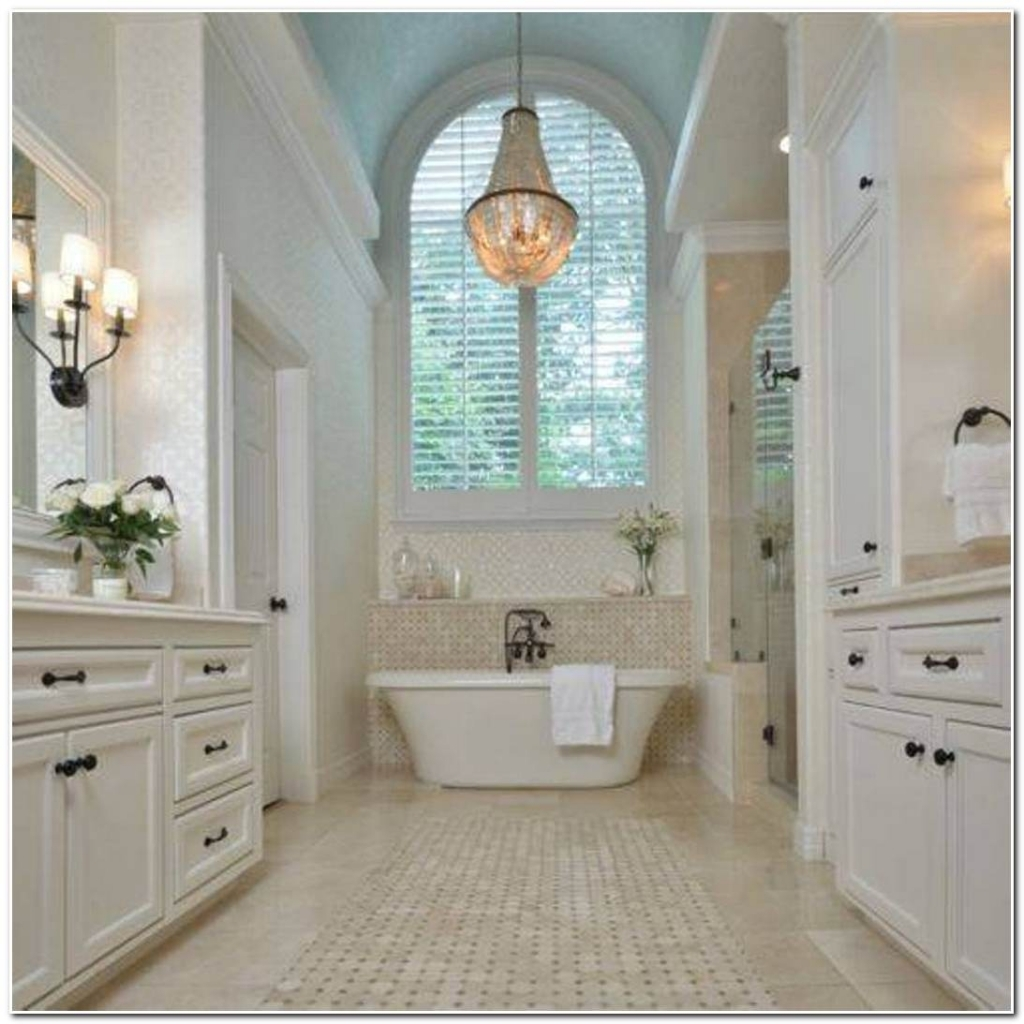 Attractive Bathroom Crystal Chandelier Amazing Luxury Bathroom Throughout Chandeliers For Bathrooms (#3 of 12)