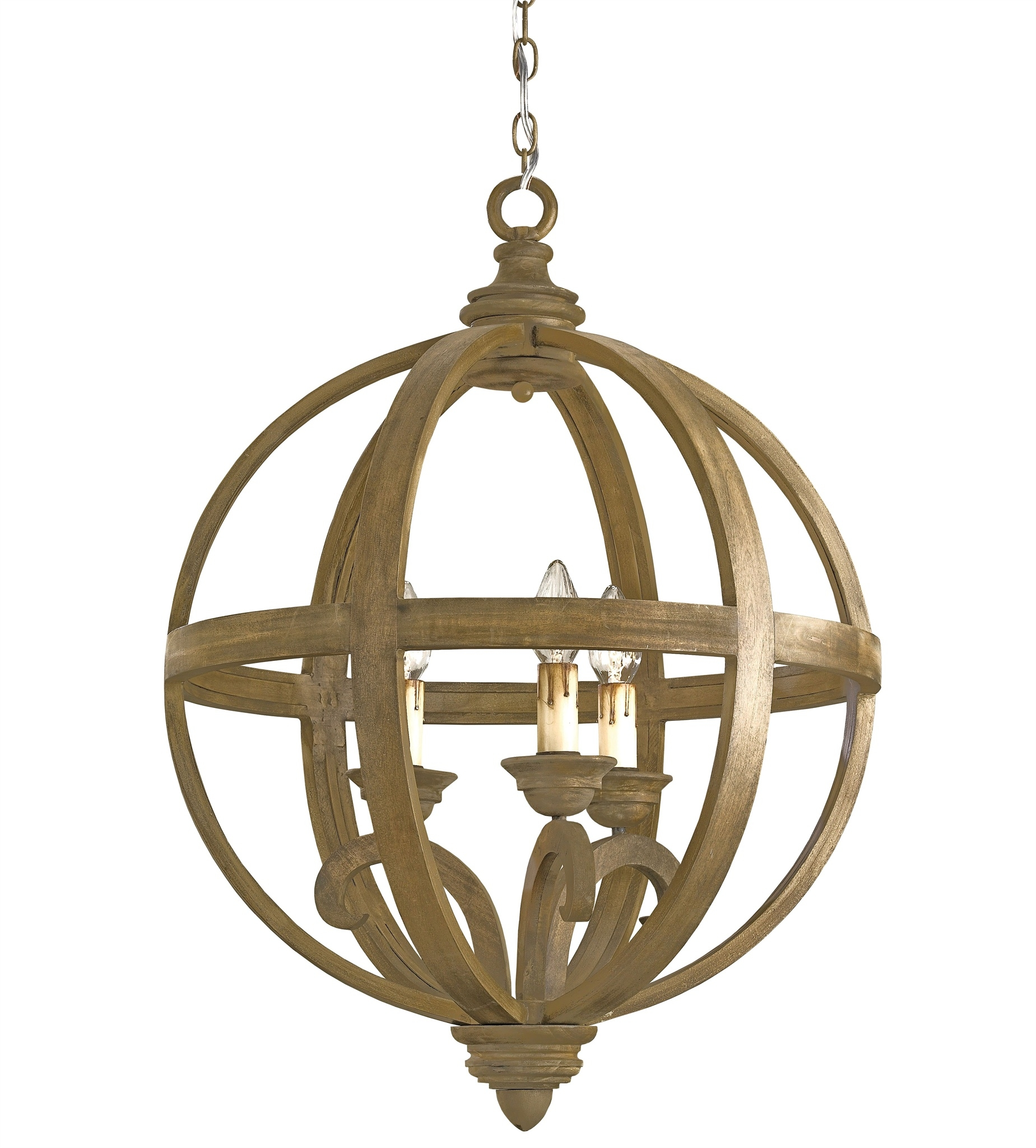 Axel Orb Chandelier Lighting Currey And Company For Orb Chandelier (#1 of 12)