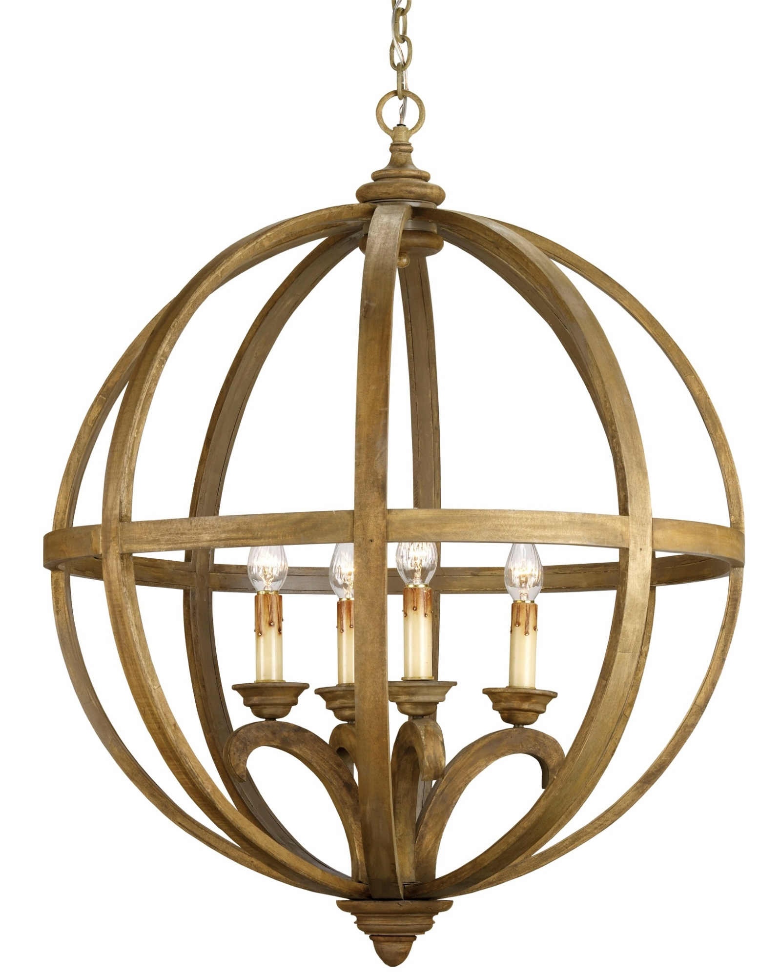 Axel Orb Chandelier Lighting Currey And Company Throughout Orb Chandelier (#2 of 12)