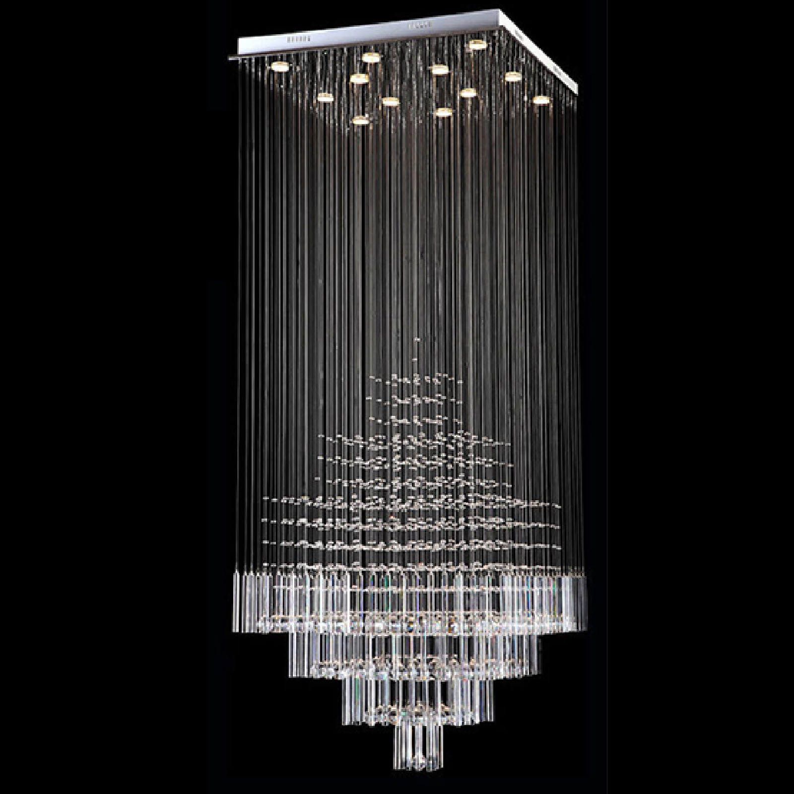 B Modern Chandelier Rain Drop Lighting Square Crystal Ball Throughout Modern Chandelier Lighting (#4 of 12)