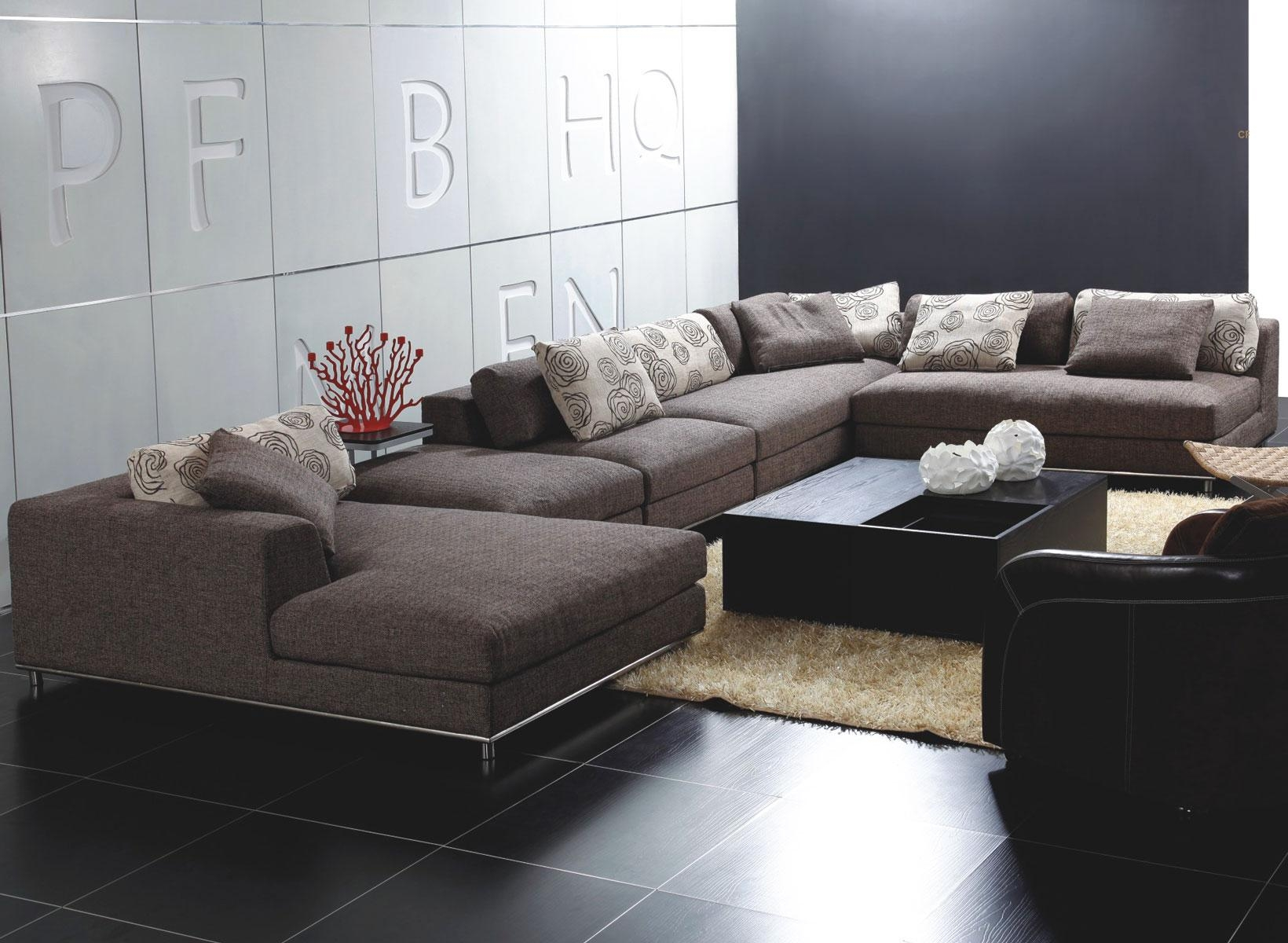 Popular Photo of Backless Sectional Sofa