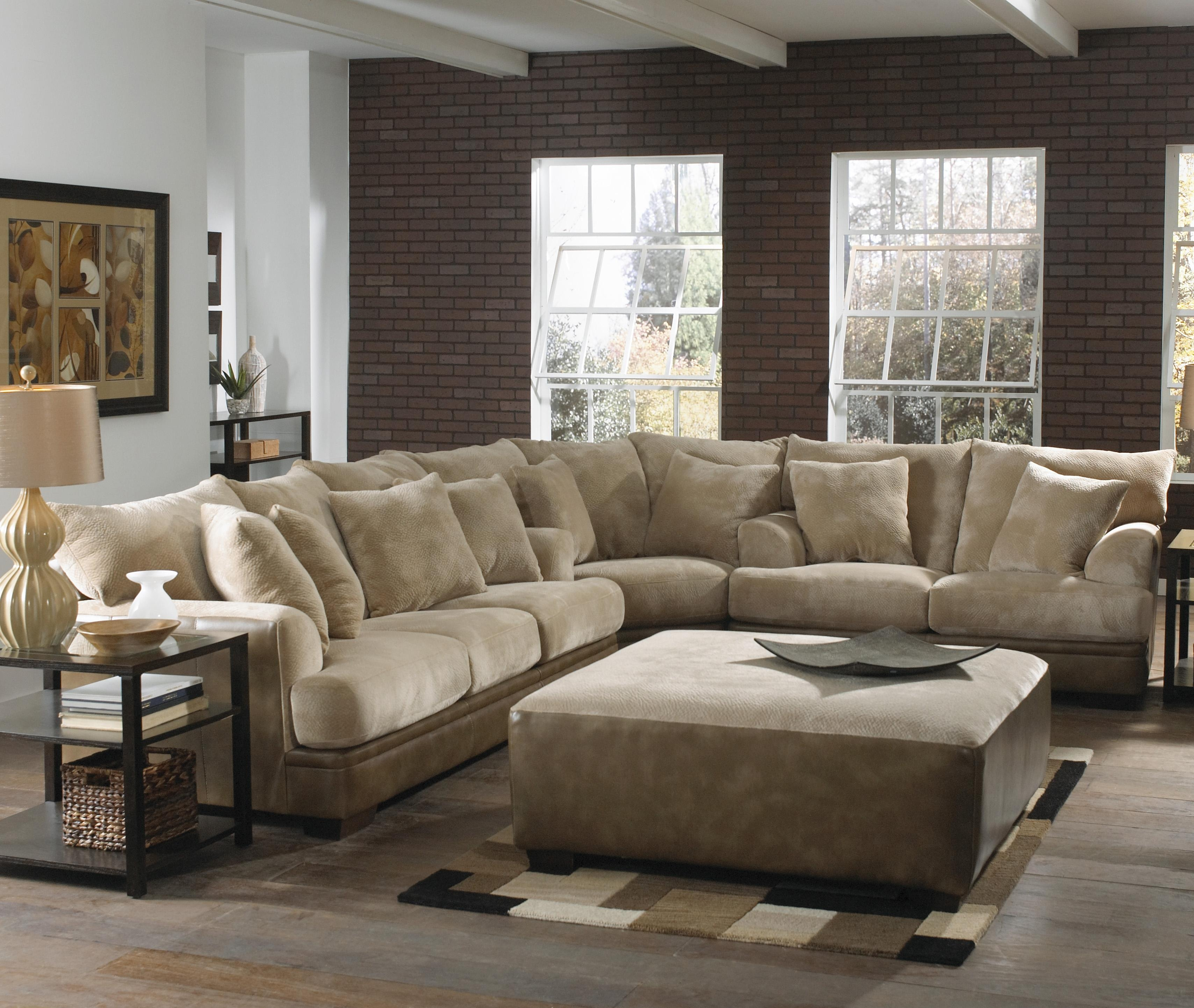 Barkley Large L Shaped Sectional Sofa With Right Side Loveseat Intended For 7 Seat Sectional Sofa (#4 of 12)